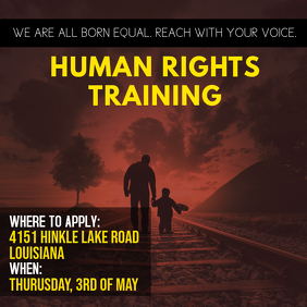 Human Rights Training Advert