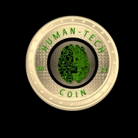 Human-Tech Coin Design Logo template