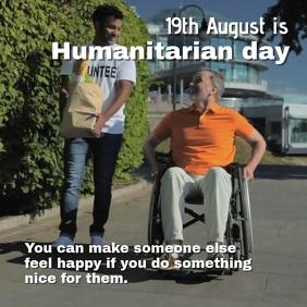 Humanitarian day Quadrado (1:1) template