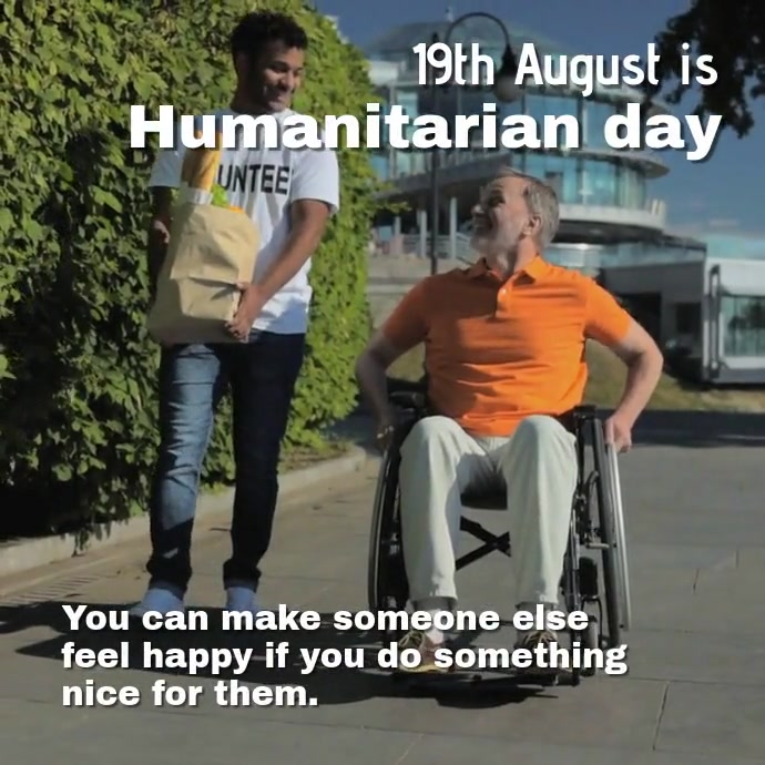 Humanitarian day Persegi (1:1) template
