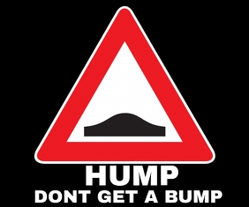 HUMP(SPEED BREAKER) SIGN BOARD TEMPLATE 中型广告
