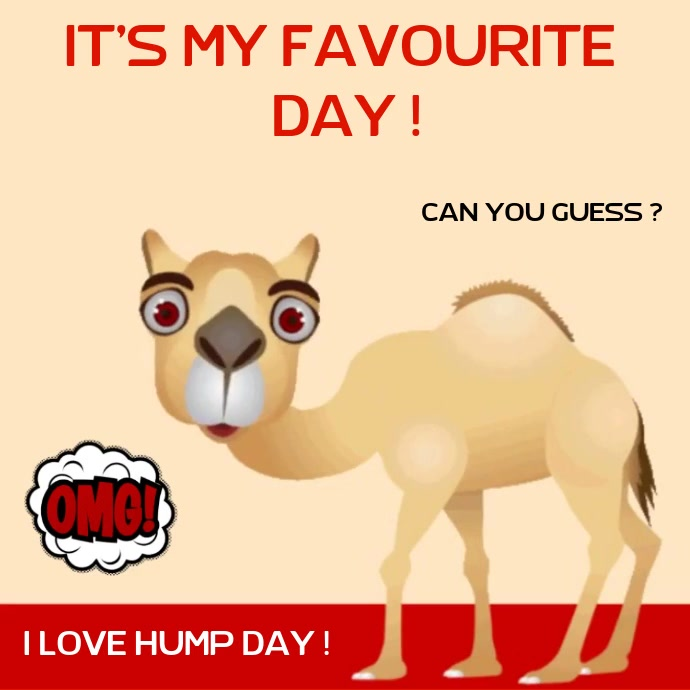 HUMP DAY CARD ONLINE SOCIAL MEDIA TEMPLATE