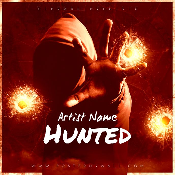 Hunted CD Cover Art Template