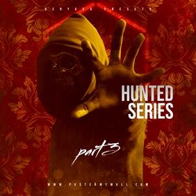 Hunted Series 3 Rap Trap Mixtape CD Cover
