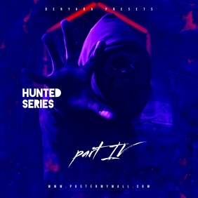 Hunted Series 4 Rap Trap Mixtape CD Cover