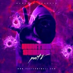 Hunted Series 5 Rap Trap Mixtape CD Cover
