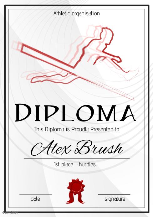 hurdles athletic diploma