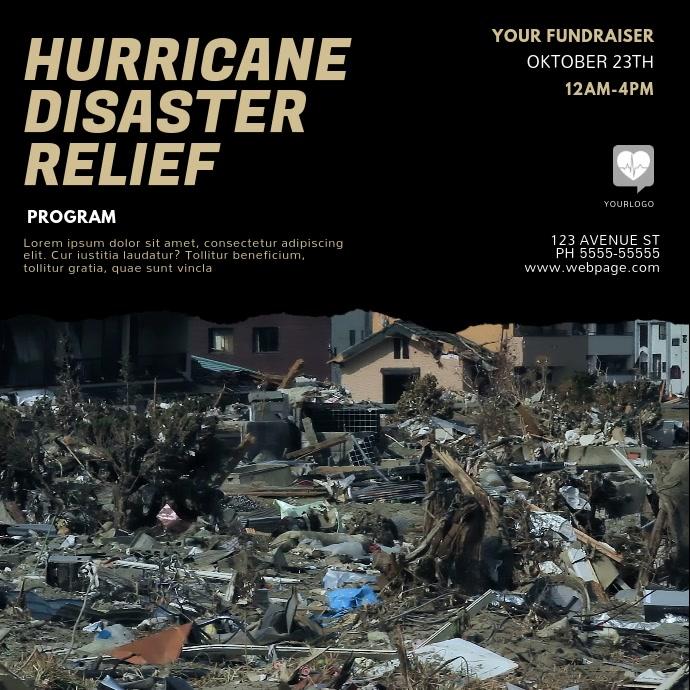 Hurricane Disaster relief video instagram