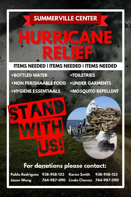 Exceptional Hurricane Relief Flyer