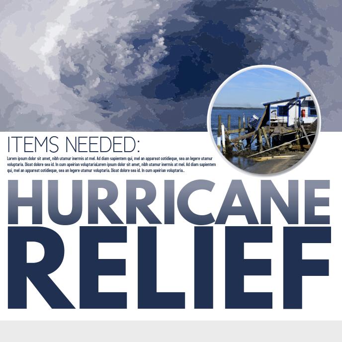 Hurricane Relief Albumcover template
