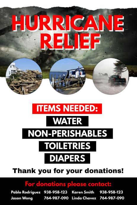 Hurricane Relief Flyer