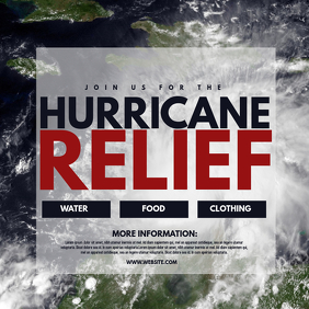 Hurricane Relief Capa de álbum template