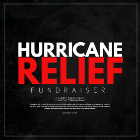 Hurricane Relief Portada de Álbum template