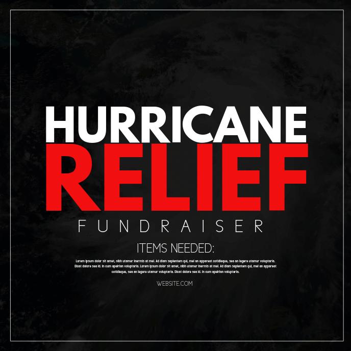 Hurricane Relief Album Cover template