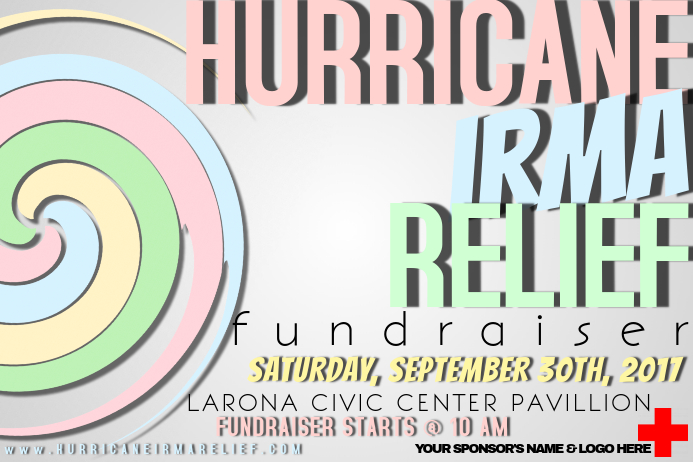 Hurricane Storm Community Disaster Cross Relief Fundraiser
