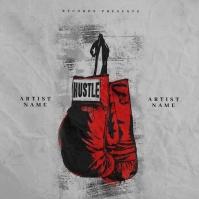 Hustle mixtape cover design template