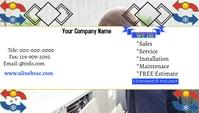 Hvac business card Kartu Bisnis template