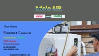 HVAC business cards template