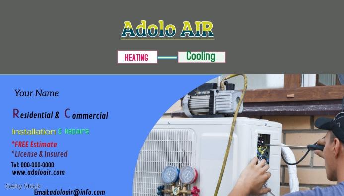 HVAC business cards Visitkort template