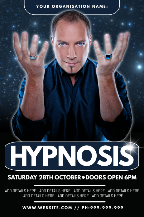 Hypnosis Poster Plakat template
