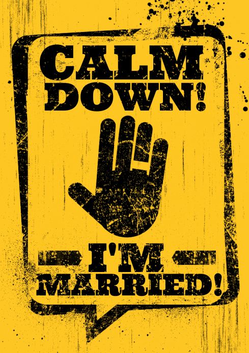 I'M MARRIED POSTER A4 template
