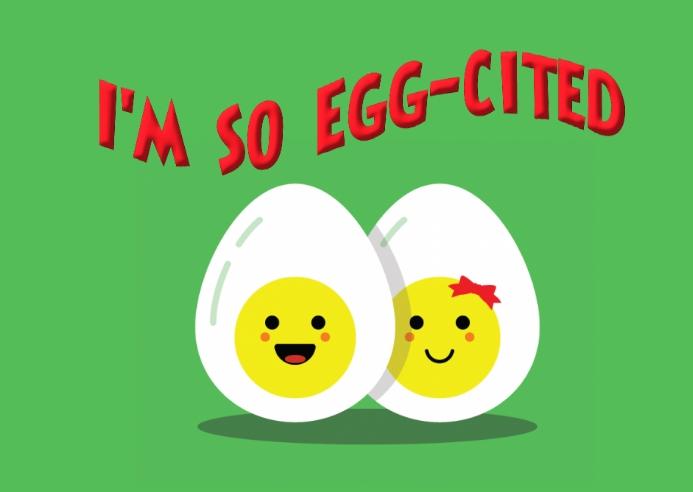 I'm so Egg-cited Kartu Pos template