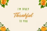I'm truly thankful card template Ilebula
