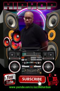 I am Hip Hop Cartaz template