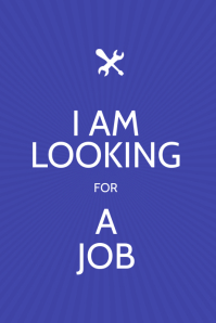I am Looking for a job Flyer Poster template