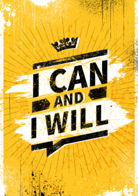 I CAN AND I WILL POSTER A4 template