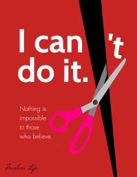 I can do it motivational letter poster
