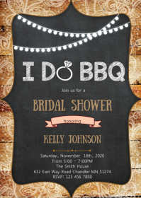 I do bbq bridal shower invitation