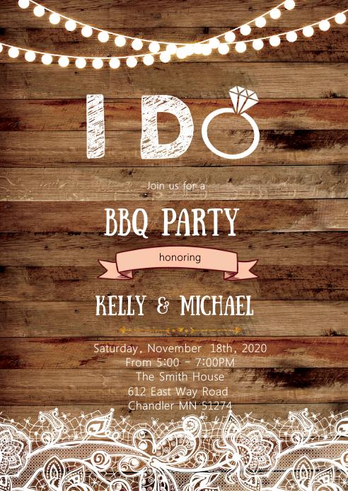 I Do BBQ party invitation