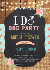 I DO BBQ party invitation
