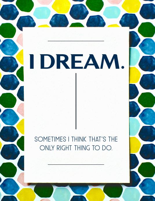 I dream quote template Folder (US Letter)