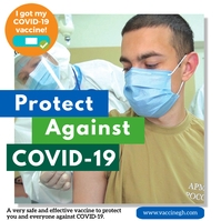 I Got My COVID-19 Vaccine Campaign Poster Carré (1:1) template