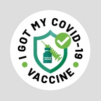 I Got My COVID-19 Vaccine โลโก้ template