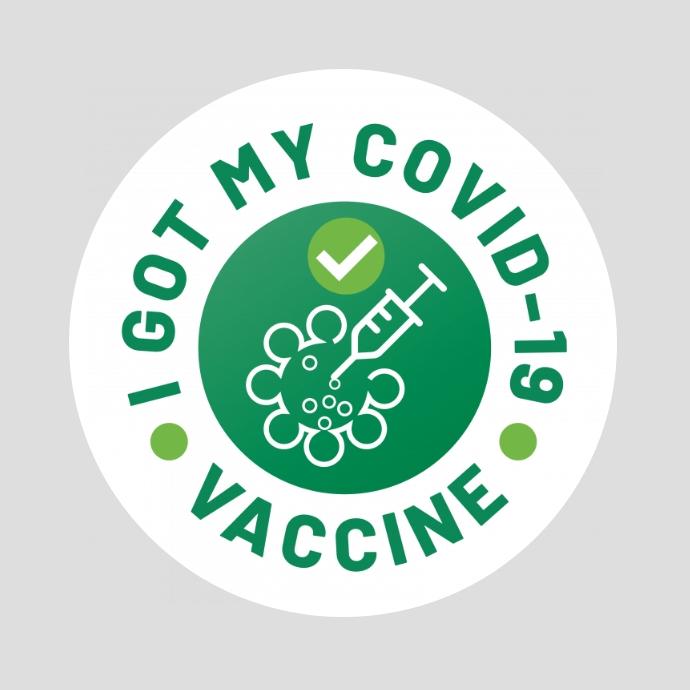 I Got My COVID-19 Vaccine Logotipo template