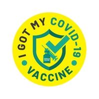 I got my COVID-19 Vaccine Icon Логотип template
