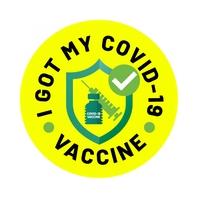 I Got My COVID-19 Vaccine Sticker Logo template