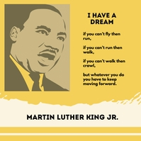 I Have A Dream Instagram-Beitrag template