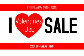 i love valentines day sale poster