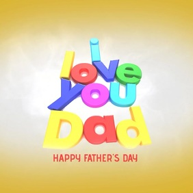 I love you Dad Album Cover template
