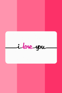 i love you template postermywall