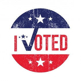 I Voted Logo template