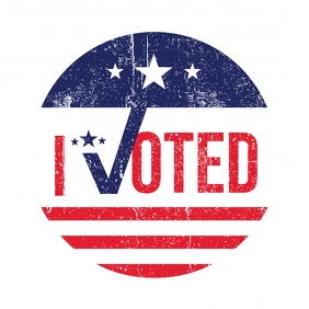I Voted Sticker Logo template