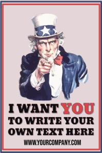 I Want You Uncle Same Customizable Template