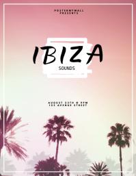 ibiza summer beach tropical party template