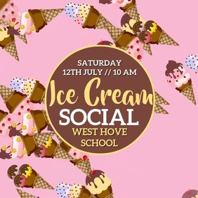 Ice |Cream Social Event Video Template