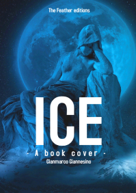Ice book cover : Fantasy , mythology and thri A4 template